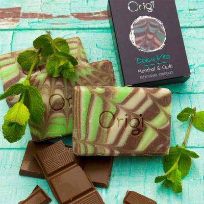 Kép 1/3 - natúrszappan csoki menthol