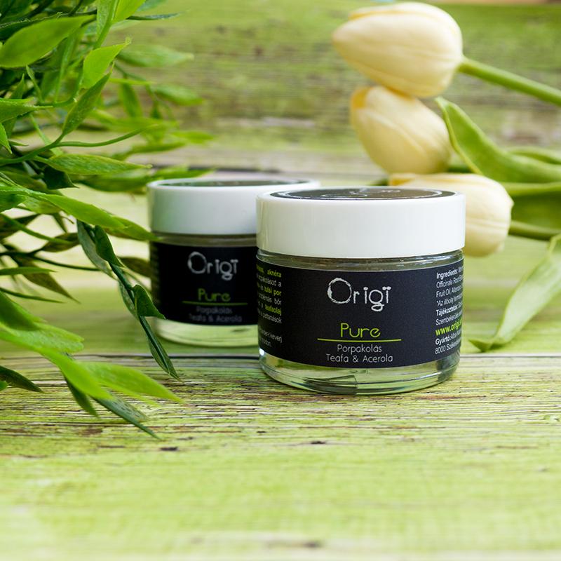 origi pure arcpakolás problémás bőrre
