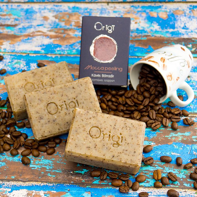 natúrszappan kávés peeling